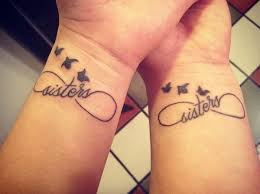 Infinity Tattoo Sisters Wrist Idea With Birds And Symbol