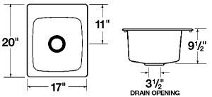 Mustee Utility Sink 10 by E L Mustee U0026 Sons Model 11 Durastone Countertop Specialty