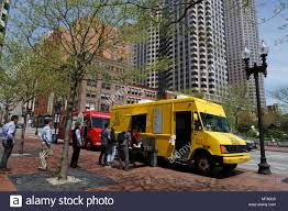 Food Trucks,, Lunch Time Office Workers Downtown Boston ...