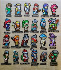 Terraria Halloween Event Server by Terraria Characters Perler Magnets