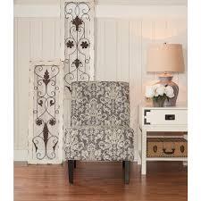 Linon Home Decor Black Fabric Accent Chair GDAM 01 KD U The