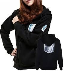 amazon com uget women u0027s attack on titan long sleeve hoodies