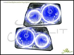 01 11 ford ranger led dual color halo rings headlights bulbs