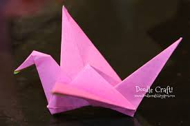 Origami Flapping Paper Crane Mobile