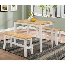 3 Piece Kitchen Table Set Walmart by 4d Concepts New York 3 Piece Dining Table Set Walmart Com