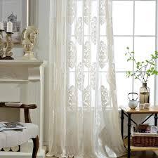 großhandel gardinen für wohnzimmer bestickte voile fenstervorhänge mit blumenmuster schlafzimmer küche vintage rod pocket panels taupe daisy433