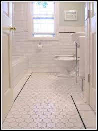 Grey Tiles With Grey Grout by White Hexagon Floor Tile Grey Grout Tiles Home Design Ideas