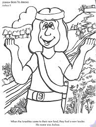 BIBLE COLORING PAGES Josehua Goes To Jericho