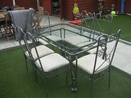 Wrought Iron Dining Table And Six Chairs With Glass Top | In Middleton,  Manchester | Gumtree Portrayal Of Wrought Iron Kitchen Table Ideas Glass Top Ding With Base Room Classic Chairs Tulip Ashley Dinette Set Zef Jam Outdoor Patio Fniture Black Metal Nz Kmart And Room Dazzling Round Tables For Sale Your Aspen Tree Cafe And Chic 3 Piece Bistro Sets Indoor Compact 2 Folding Chair W Back Wrought Iron Dancing Girls Crafts Google Search