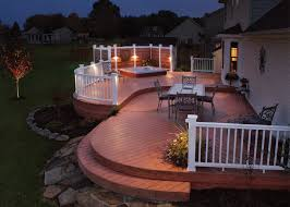 Garden Ideas : Patio Deck Lighting Ideas Some Tips To Get The Best ... Backyard Landscaping House Design With Deck And Patio Plus Wooden Difference Between Streamrrcom Decoration In Designs Nice Outdoor 3 Grabbing Exterior Beauty With Small Ideas Newest Home Timedlivecom 4 Tips To Start Building A Deck Designs Our Back Design Very Cost Effective Used Conduit Natural Burlywood Awesome Entrancing Pretty Designer Software For And Landscape Projects Depot Choosing Or Suburban Boston Decks Porches Blog Amazing Of Decorate Your