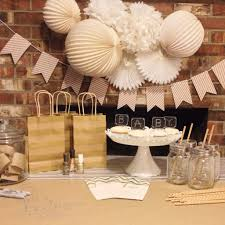White And Gold Baby Shower Decorations