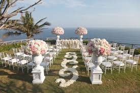 White Rose Petal Swirl Aisle At Pink And Flower Ceremony