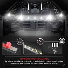 AUDEW 2Pcs 60'' Truck Bed Light Strips Unloading Cargo Light With ... 60 Trailer Turn Signal Truck Reversing Brake Running Drl Tailgate Bed Tool Box Light Kit With Autooff Delay Switch 4pc 12inch 201518 Ingrated F150 Cargo Area Premium Led Lights F150ledscom Led Lights For Of Decor 8 Blue Rock Pods Lighting Xprite Multi Color 4 To 6 Boogey Amazoncom Mictuning 2pcs White Strip Magnetic Under The Rail Lux Systems 92 5 Function Trucksuv Bar Reverse Strips Trucks