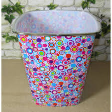 papierkörbe mülleimer papierkorb metall vintage pink