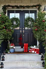 Outdoor Christmas Decorations Ideas Pinterest by Christmas Outdoor Christmas Decoratingeas Pinterest Porch Diy