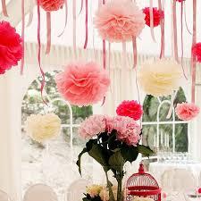 10PCS 6inch15CM Tissue Paper Pom Poms Multi Colors Handmade Flower Ball Pompom