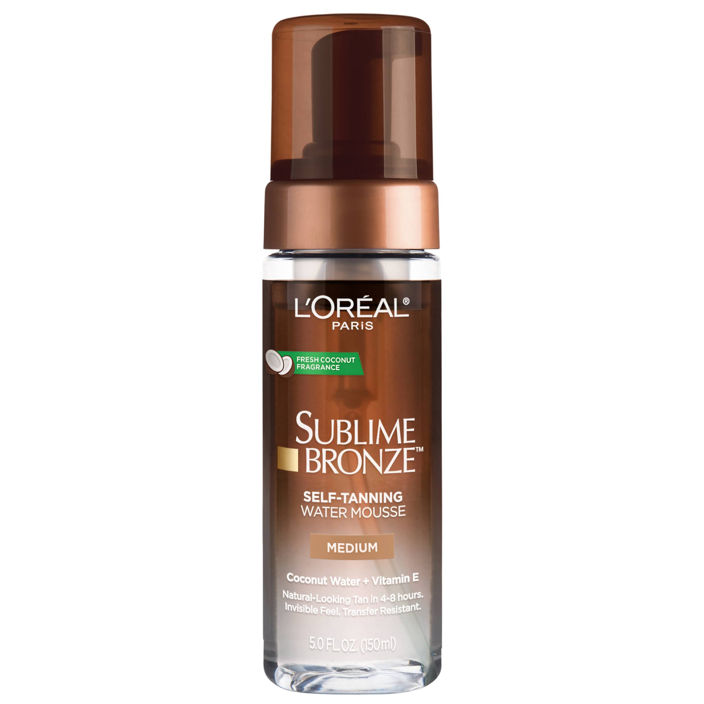L Oreal Paris Sublime Bronze Hydrating Self Tanning Water Mousse - Medium, 5oz