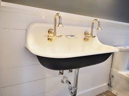 Trough Sink Vanity With Two Faucets by Bathroom Trough Bathroom Sink 49 Bathroom Mounted Trough