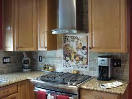 tuscan kitchen back splash with travertine subway tile surripui net