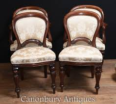 Arm Chair | Regency Dining Tables Antique Victorian Ref No 03505 Regent Antiques Set Of Ten Mahogany Balloon Back Ding Chairs 6 Walnut Eight 62 Style Ebay Finely Carved Quality Four C1845 Reproduction Balloon Back Ding Chairs Fiddleback Style Table And In Traditional Living Living Room Upholstery 8 Upholstered Lloonback Antique French