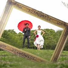 nouveau papier cadre photo booth props pour le mariage d