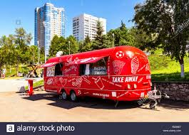 Samara, Russia - June 23, 2018: Food Truck, Mobile Drink And Snack ...