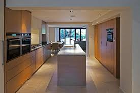 Clean Contemporary Open Plan Kitchen Leading To Living Dining Room