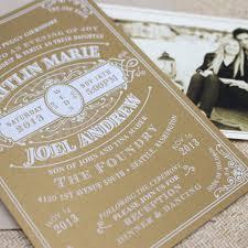 White Ink Wedding Invitation