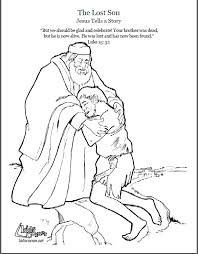 The Parable Of Lost Son Coloring Page Script And Bible Story