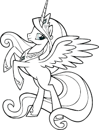 Twilight My Little Pony Coloring Pages Sparkle And Friends