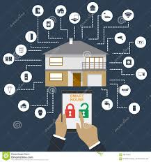 Smart Home. Flat Design Style Illustration Concept Of Smart House ... Emejing Home Design Technology Ideas Decorating Next Generation Smart Home Technology World Health Architecture Culture Futureproofing The Startup Siliconangle Bamboo House Inspiration Permaculture Medcrunch Best 25 Tech House Ideas On Pinterest Light Images Interior The Future Concept Of Smart In 20hightech Security System Flat Vector Background Concepts Intels Tiny Puts Internet Things To Work