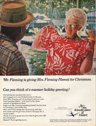 1967 United Airlines Vintage Ad Mr Fleming Is Giving Mrs Hawaii