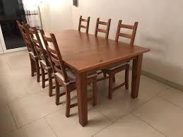 esstisch ikea stornäs 6 stühle in 41363 jüchen for 250 00