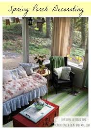 Spring Is In The Air On This Screened Porch