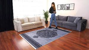 teppich modern weich kurzflor wohnzimmer küche esszimmer