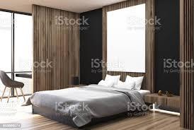 weiß schwarz und aus holz schlafzimmer seite stockfoto und mehr bilder boden