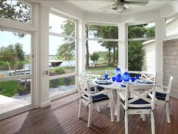 Coastal Patio Set Shingle Beach House With Classic Interiors Home Bunch Porch Screened Decor And Comfortable