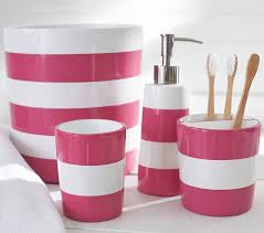 Jcpenney Bathroom Accessory Sets by Pink Stripe Bath Accessories Pottery Barn Kids