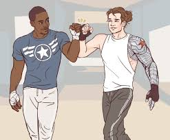 Artofobsession Flat Color Commission Of Sam Wilson And Bucky Barnes For Someone Who Wanted