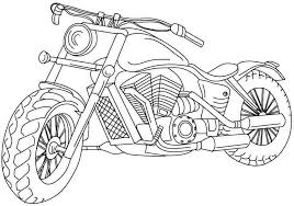 Free Motorcycles Coloring Page To Print