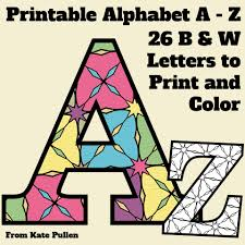Free Printable Alphabet Letters With Pattern To Color