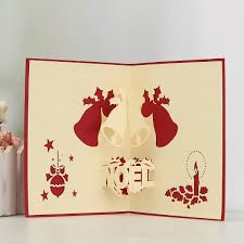 3D Pop Up Card Merry Christmas Greeting Kids Gift Holiday Happy New