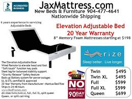 New Adjustable bed with 20 yr warranty over 20 bases to choose