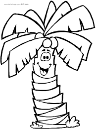 Palm Tree Coloring Pages Funycoloring