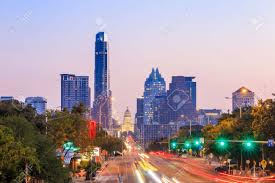 100 Austin City View A Of The Skyline Texas At Twilight Stock Photo Picture