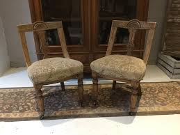Pair Of Antique Carved Curved Back Oak Dining Chairs Oak Ding Chairs Ding Room Set With Caster Chairs Wooden Youll Love In Your The Brick Swivel For Office Oak With Casters Office Chair On Casters Art Fniture Inc Valencia 2092162304 Leather Brooks Rooms Az Of Fniture Terminology To Know When Buying At Auction High Back Faux Home Decoration 2019 Awesome Hall Antique Kitchen Ten Shiloh Upholstered Pisa Gray Ikea Ireland Cadejiduyeco