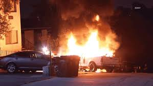 100 Truck Explosion Pickup Fire Wakes Up Fairmount Park Residents NBC 7 San Diego