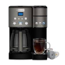 Black Stainless Coffee Center 12 Cup Coffeemaker And Single Serve Brewer