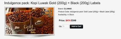 An Example Of The Exorbitant Prices Commanded By Kopi Luwak This Is A Screenshot From