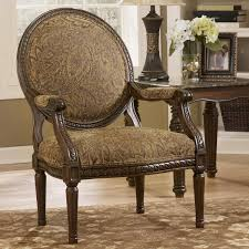 Broyhill Laramie Microfiber Sofa In Distressed Brown by Cambridge Amber Traditional Exposed Wood Accent Chair By